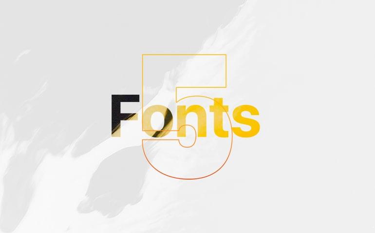 5 Fonts -min